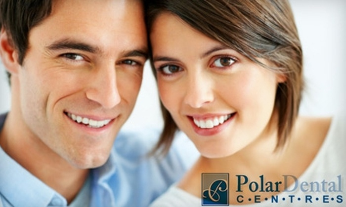 Polar Dental Centres - Multiple Locations: $129 for One-Hour In-Office Teeth Whitening at Polar Dental Centres ($650 Value). Choose From Six Locations.