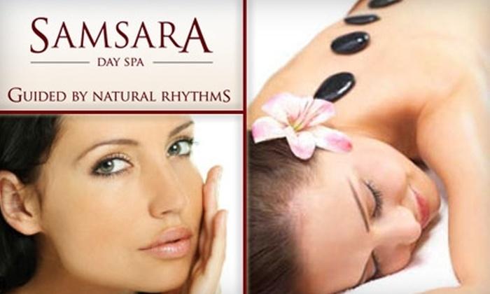 Samsara Day Spa - Casa Loma: $79 for a 70-Minute Sampar Facial and a 30-Minute Hot-Stone Massage at Samsara Day Spa
