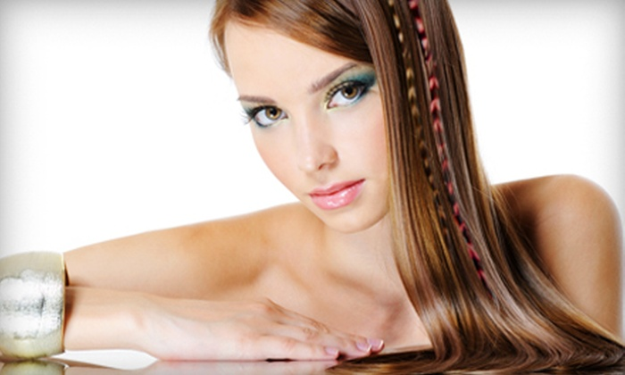HiLights Hair and Tanning Studio - West Columbia: $22 for Three Feather Hair Extensions at HiLights Hair and Tanning Studio in Cayce ($45 Value)