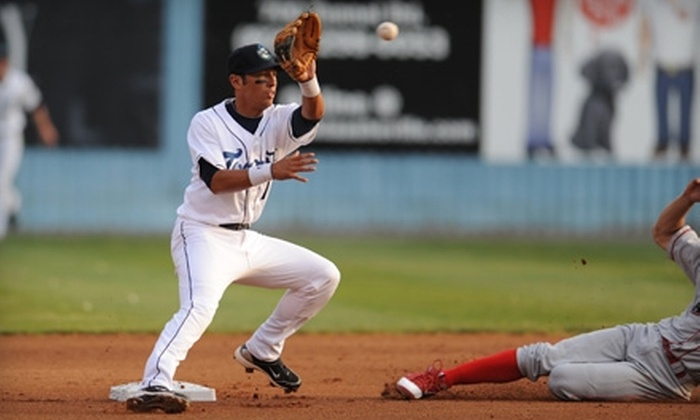Asheville Tourists - East End - Valley Street: $16 for Four Tickets to an Asheville Tourists Baseball Game (Up to $32 Value). Four Games Available.