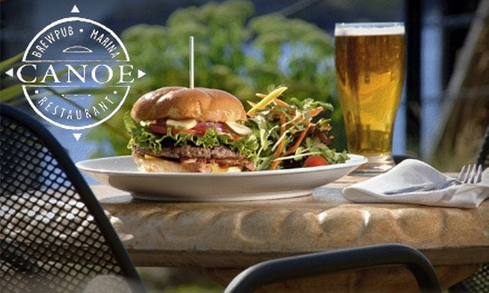 CANOE Brewpub - Downtown: $15 For $30 Worth of Seasonal Cuisine and Micro-brews at CANOE Brewpub