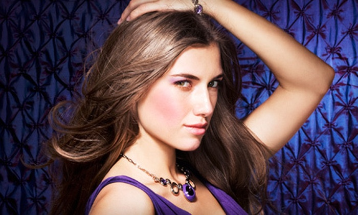 Center of Attention Hair Salon - Central Area: Salon Packages with Cut or Cut and One- or Two-Color Treatment at Center Of Attention Hair Salon (Up to 55% Off)
