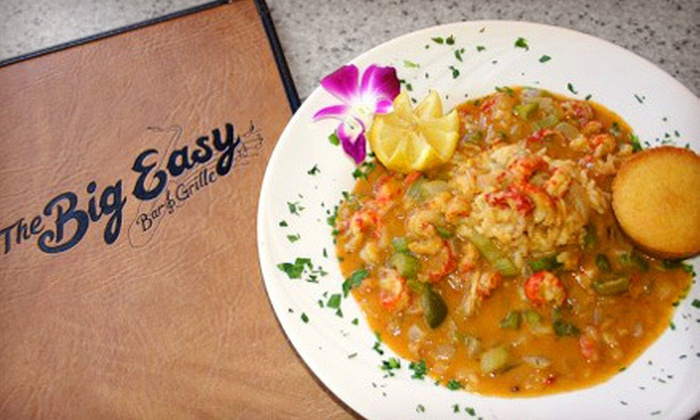 The Big Easy Bar and Grille - Royal Poinciana: New Orleans–Style Cuisine at The Big Easy Bar and Grille (Up to 53% Off). Two Options Available.