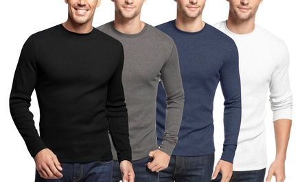 Men's Waffle-Knit Thermal Shirts (2-Pack)
