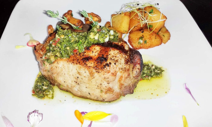 Charivari Restaurant - Midtown: Four-Course Prix Fixe Steak Dinner for Two, Four, or Six at Charivari Restaurant (Up to 48% Off)