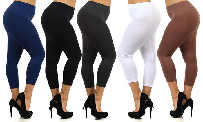 Plus Size Capri Leggings - Trendy Clothes