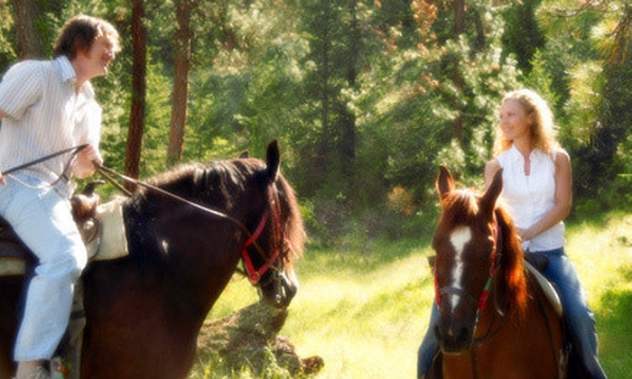 Sleepy Sheep Ranch - Whitewright: Horseback Trail Ride and Campfire Dinner for One or Two at Sleepy Sheep Ranch in Whitewright (Up to 57% Off)