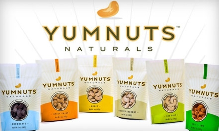 Yumnuts Naturals - Hartford: $15 for $30 Worth of Dry-Roasted Cashews from Yumnuts Naturals