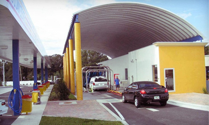 Flippers Express Car Wash - Richland Manor: Exterior Auto Detailing or Interior and Exterior Auto Detailing at Flippers Express Car Wash in Bartow (51% Off)
