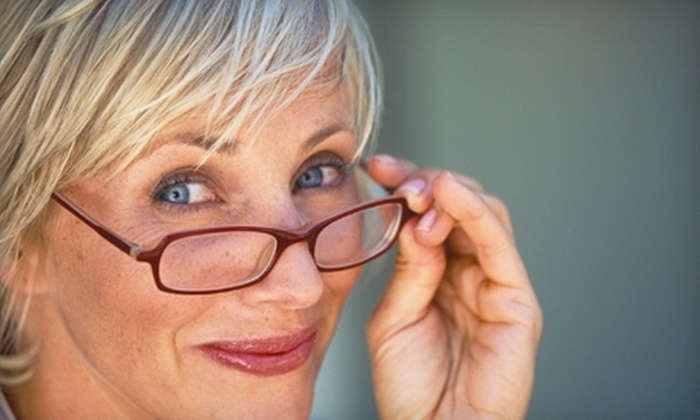 OptiMark Eyecare - Maple Leaf: $50 for $150 Worth of Prescription Designer Eyeglasses or Sunglasses at OptiMark Eyecare