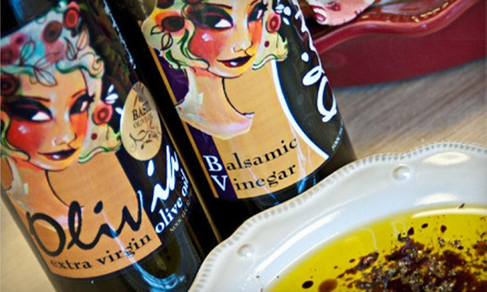 Olivia Olive Oil  - 4: Olive Oil, Balsamic Vinegar, and Private Gourmet Tastings at Olivia Olive Oil in Franklin (Up to 58% Off). Two Options Available.
