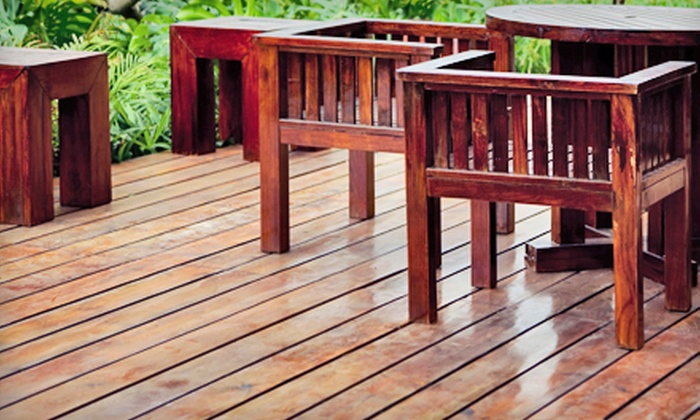 Mr. Squeaky Clean - Raleigh / Durham: 100, 250, or 400 Square Feet of Power Washing and Deck Staining from Mr. Squeaky Clean (Up to 60% Off)