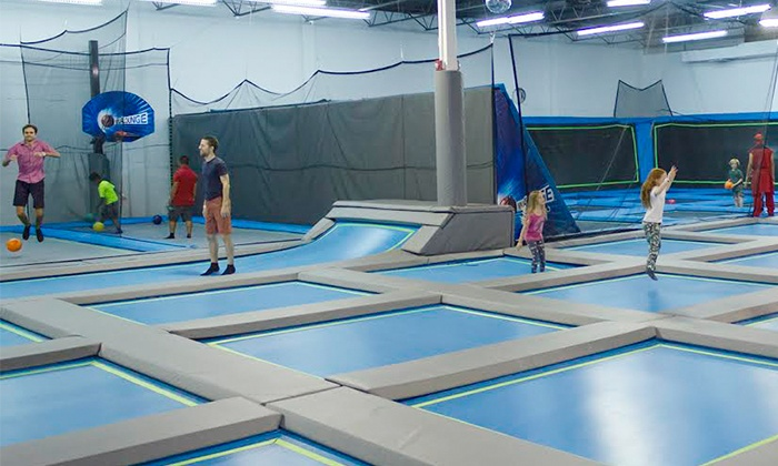 Ninja Lounge - Central North Miami: Obstacle Courses, Trampolines, and Climbing at Ninja Lounge (Up to 47% Off). Three Options Available.