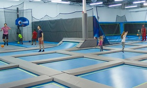 Ninja Lounge: Obstacle Courses, Trampolines, and Climbing at Ninja Lounge (Up to 47% Off). Three Options Available.