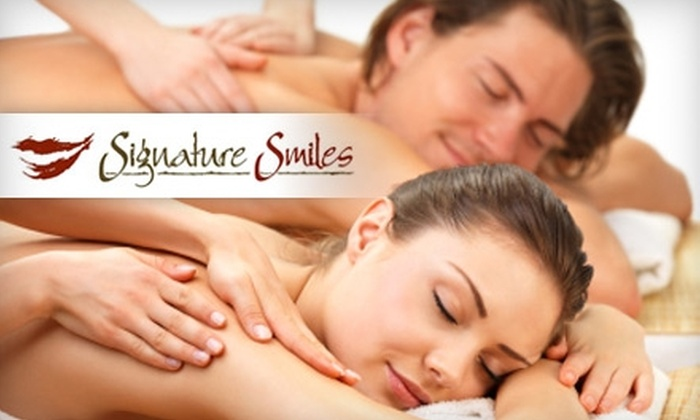 The Spa at Signature Smiles - Taylorsville: $129 for a Couple's Massage with Chocolates and a Nonalcoholic Beverage at The Spa at Signature Smiles ($350 Value)