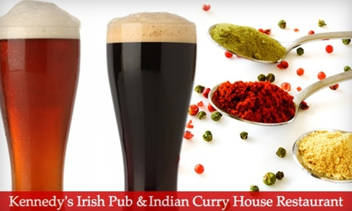 Kennedy's Irish Pub & Indian Curry House Restaurant - Russian Hill: $12 for $25 Worth of Indian Cuisine and Drinks at Kennedy's Irish Pub & Indian Curry House Restaurant