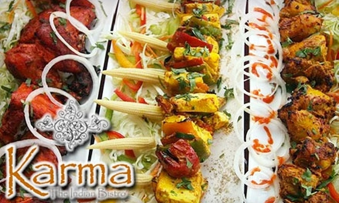 Karma - The Indian Bistro - Downtown: $20 for $40 Worth of Indian Cuisine and Drinks at Karma - The Indian Bistro