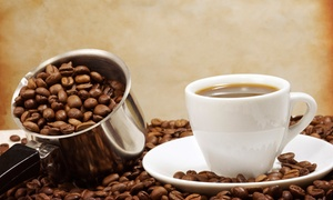 Mean Bean Roasters: Cups of Coffee with Half-Pound Bags of Beans at Mean Bean Roasters (50% Off)