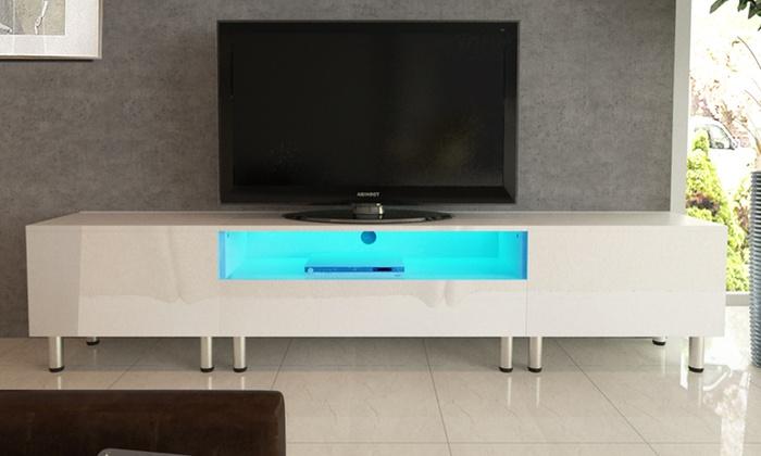 Meuble Tv Led Blanc Groupon Shopping