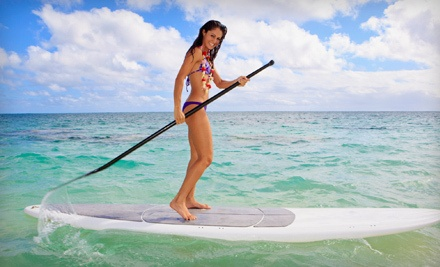 All-Day Standup-Paddleboard Experience with a Quick-Start Lesson, Boards, and Optional Wetsuit for 1 (an $80 value) - Poseidon Stand Up Paddle Boards in Santa Monica