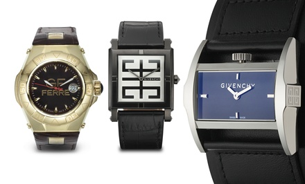 Givenchy and GF Ferré Men's and Women's Swiss Watches from $59.99–$179.99