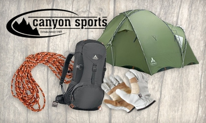 Canyon Sports - Multiple Locations: $25 for $50 Worth of Outdoor Gear and Apparel at Canyon Sports