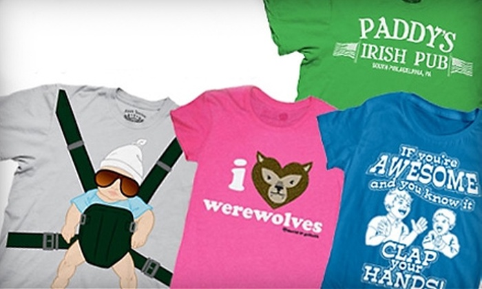 Crazy Dog T-Shirts: $20 for $40 Worth of T-shirts, Hoodies, and More from Crazy Dog T-shirts