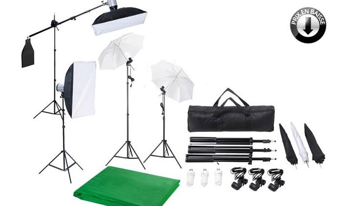 kit de studio photo professionnel groupon shopping. Black Bedroom Furniture Sets. Home Design Ideas