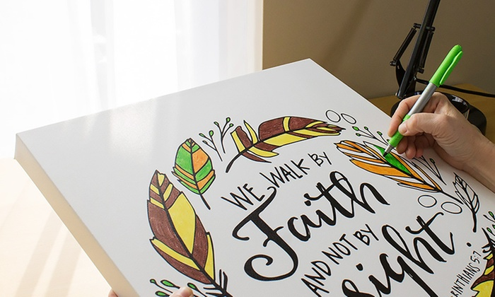 Up to 84% Off Custom Coloring Canvases | Groupon