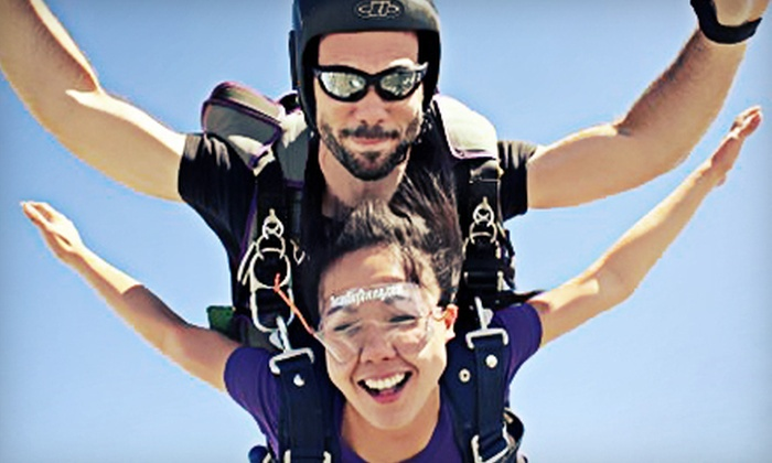 Texas Skydiving Center - Texas Skydiving Center: Skydiving Package with Tandem Jump, Ground School, and Optional Hand-Cam Video at Texas Skydiving Center (Up to 52% Off)