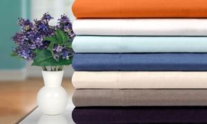 Superior 100% Cotton Flannel Solid Duvet Cover Set (2- or 3-Piece)