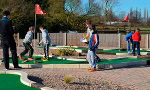 19 Bar and Grill: 18 Holes of Mini Golf With a Drink from £4 at Charnwood Golf Complex (Up to 63% Off)