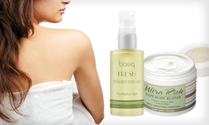 basq Full-Body Nourishing Skincare Kit: $25 for a basq Full-Body Skincare Toning and Nourishing Kit ($49.50 List Price). Free Shipping.