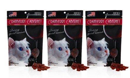 8-Pack of 3 Oz. Cranberry Cabernet Cat Treats