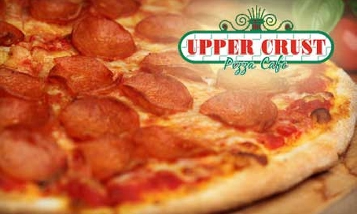 Upper Crust Pizza Cafe - Celebration: $20 for Two Extra-Large New York-Style Pizzas with Up to Four Toppings Each from Upper Crust Pizza Cafe