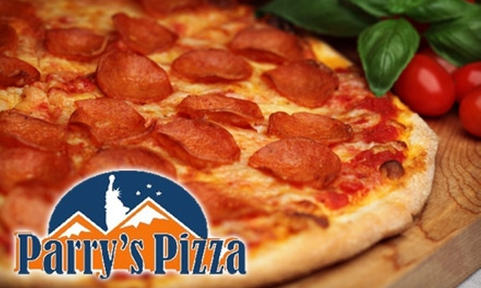 Parry's Pizza - Castle Rock: $12 for $25 Toward Pizza, Drinks, and More Fare at Parry's Pizza. Two Locations Available.