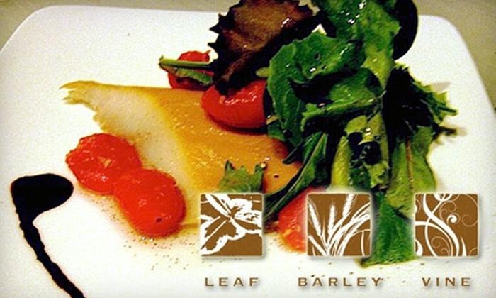 Leaf, Barley & Vine - Brighton: $30 for $60 Worth of Wine and Bistro Fare at Leaf, Barley & Vine in Brighton