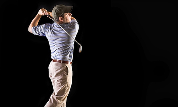 Firehouse Sports Pub - Southwest Meridian: $10 for Golf-Simulator Play and $10 Worth of Pub Fare at Firehouse Sports Pub ($22 Value)