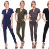 Women's V-Neck Jumpsuit in Plus Sizes
