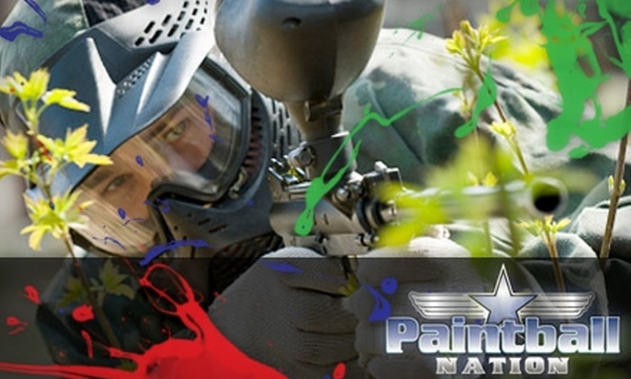 Paintball Nation - Multiple Locations: $20 for a Three-Hour Weekend Paintball Package for Two People at Paintball Nation (Up to $91.50 Value)