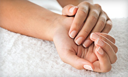 Deluxe Manicure & Signature Pedicure with a Complimentary Glass of Wine (a $50 value) - Alicia's Arch Complete in Atlanta