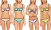 Neoprene Balconette Bikini Set: Bra Society Neoprene Balconette Bikini Set with Removable Push-Up Padding