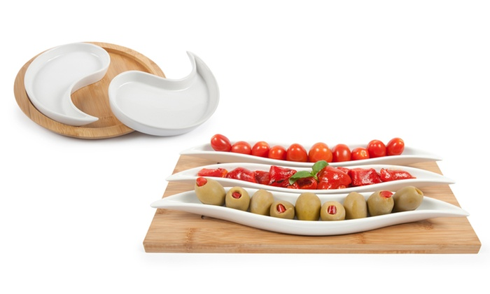 Core Bamboo Entertainment Platter Sets: Core Bamboo Curve, Nut Cracker, or Zen Entertainment Platter Set.