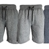 Galaxy By Harvic Men's Soft Knit Marled French Terry Shorts