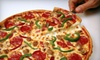 Tasty Foods - Peabody Town Center: Pizza with Appetizers and Greek Salads at Tasty Foods in Peabody (Up to 53% Off). Two Options Available.