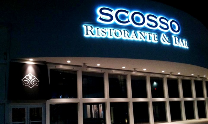 Scosso Ristorante & Bar - Proctor: Italian Cuisine for Two or Four or More at Scosso Ristorante & Bar (Half Off)