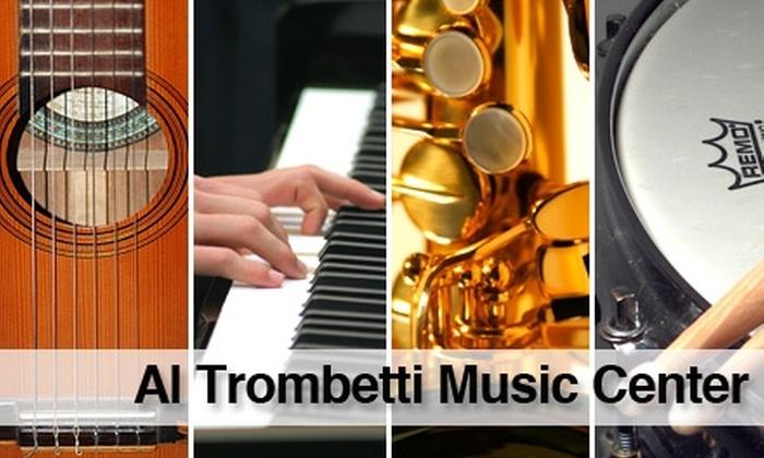 Al Trombetti Music Center - Warwick: $36 for One Month of Music Classes at Al Trombetti Music Center ($72 Value)