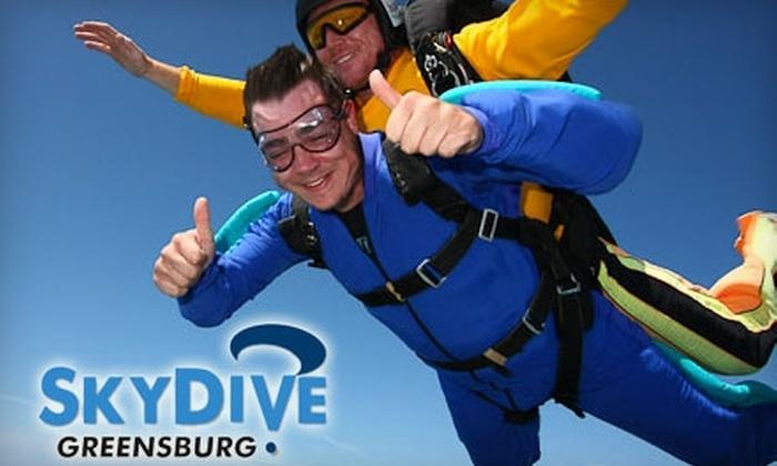 Skydive Greensburg - Salem: $129 for a Tandem Jump at Skydive Greensburg ($259 Value)