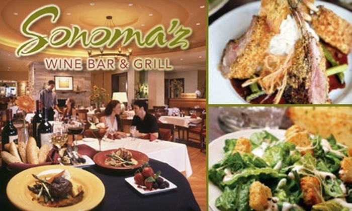 Sonoma'z Wine Bar & Grill - Lone Tree: $15 for $30 Worth of Seasonal Fare and Wine at Sonoma'z Wine Bar & Grill in Lone Tree