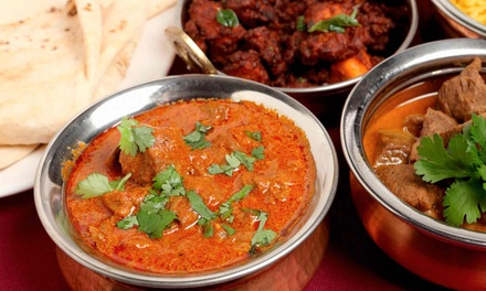 $35 for $70 Worth of Indian Dinner for Two or More People at The Curry Club